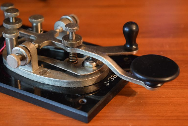 Close-Up Of Telegraph Machine
