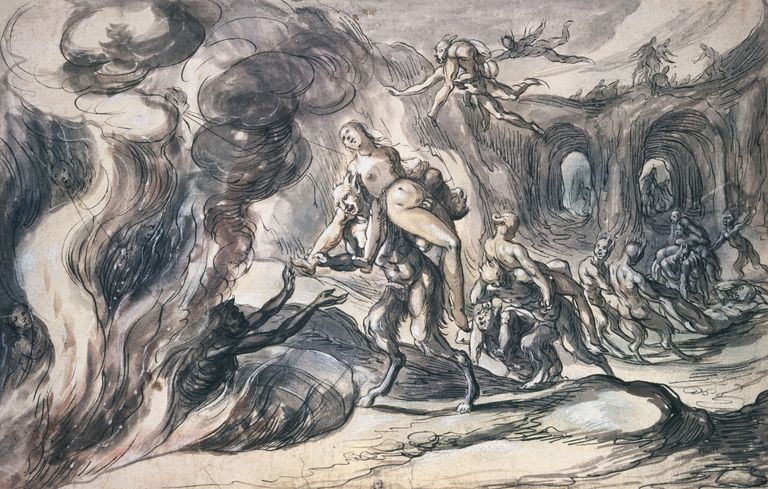 Eurydice In Hell by Hermann Weyer,