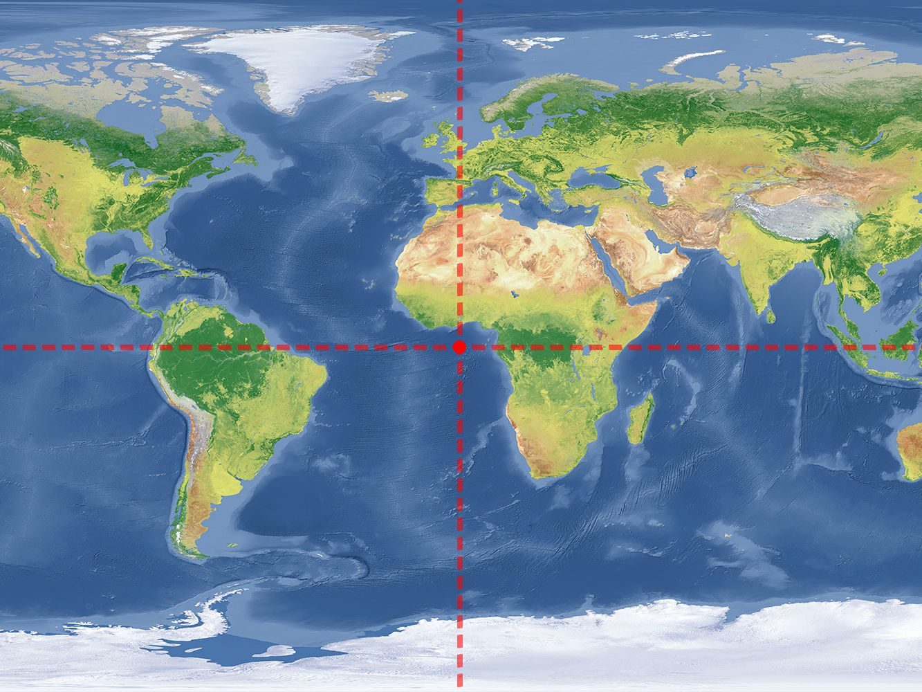 Where Do 0 Degrees Latitude And Longitude Intersect