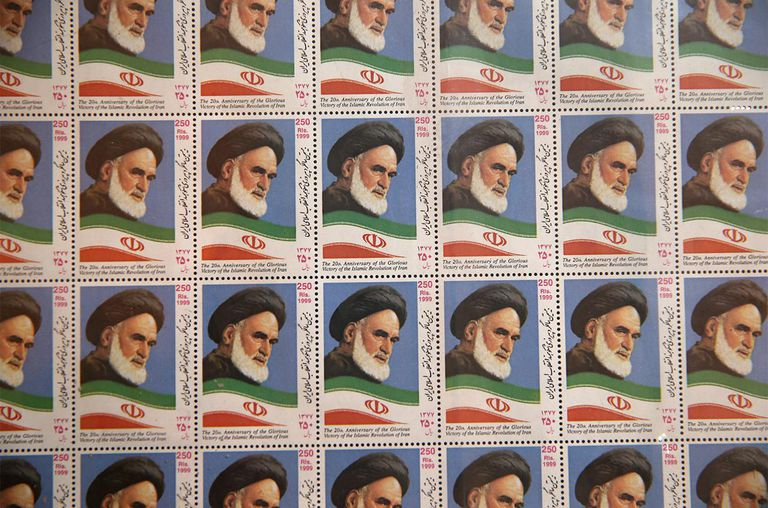 Stamps of the late Iranian supreme leader Ayatollah Khomeini