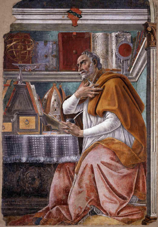 sandro botticelli saint augustine in his study