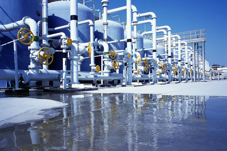 A desalination plant in Dubai.
