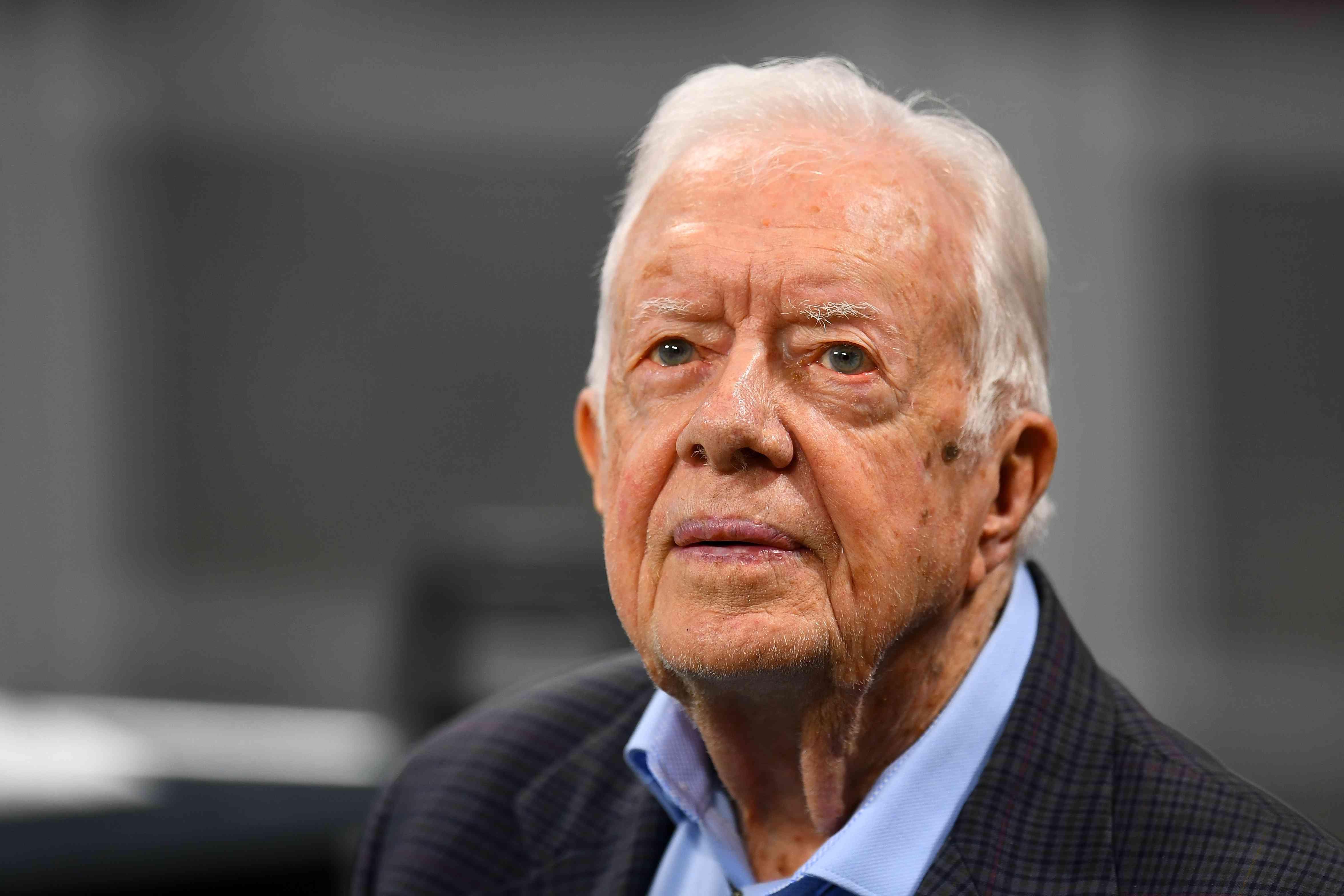 Jimmy Carter attending an NFL Game