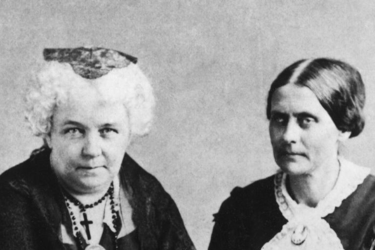 Elizabeth Cady Stanton and Susan B. Anthony, about 1881