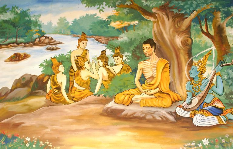 Ascetic Bodhisatta Gotama with the Group of Five