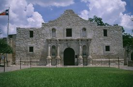 The Alamo fort building