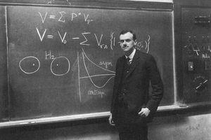 P.A.M. Dirac at the blackboard