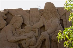 Christmas sand sculpture from the Canary Islands