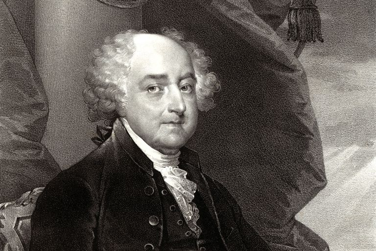 An 1828 portrait of John Adams, second President of the U.S.