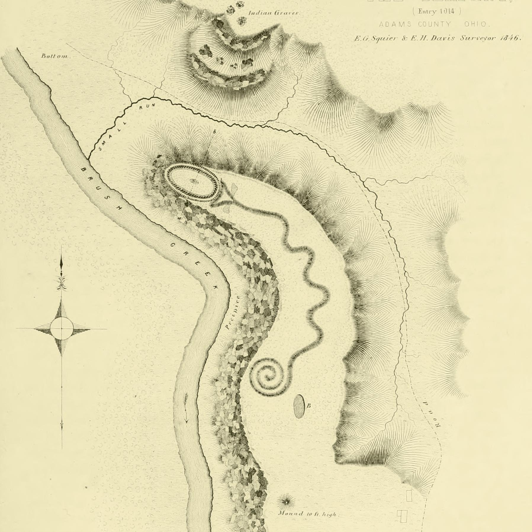 Serpent Mound - Squier and Davis 1846