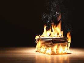 Burning Magazines