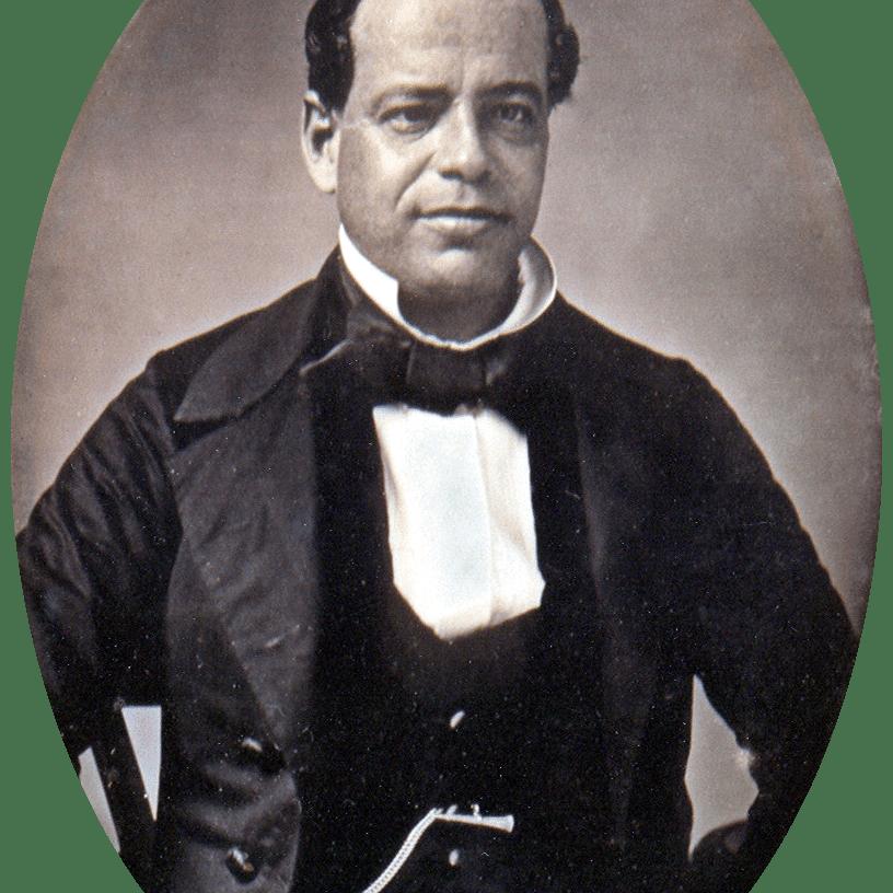 A daguerrotype or early photograph of Antonio Lopez de Santa Anna, ca. 1853