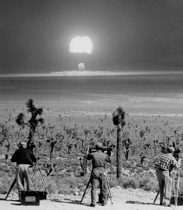 Operation Teapot's Wasp Prime was an air-dropped nuclear device at Nevada Test Site March 29, 1955.