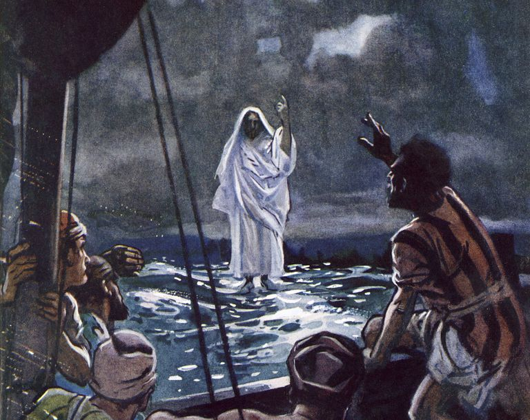 Image result for do not be afraid, Jesus walking on water, art
