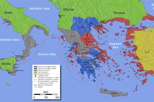 Map of Peloponnesian War