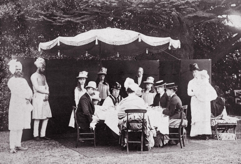 Queen Victoria with Indian servants