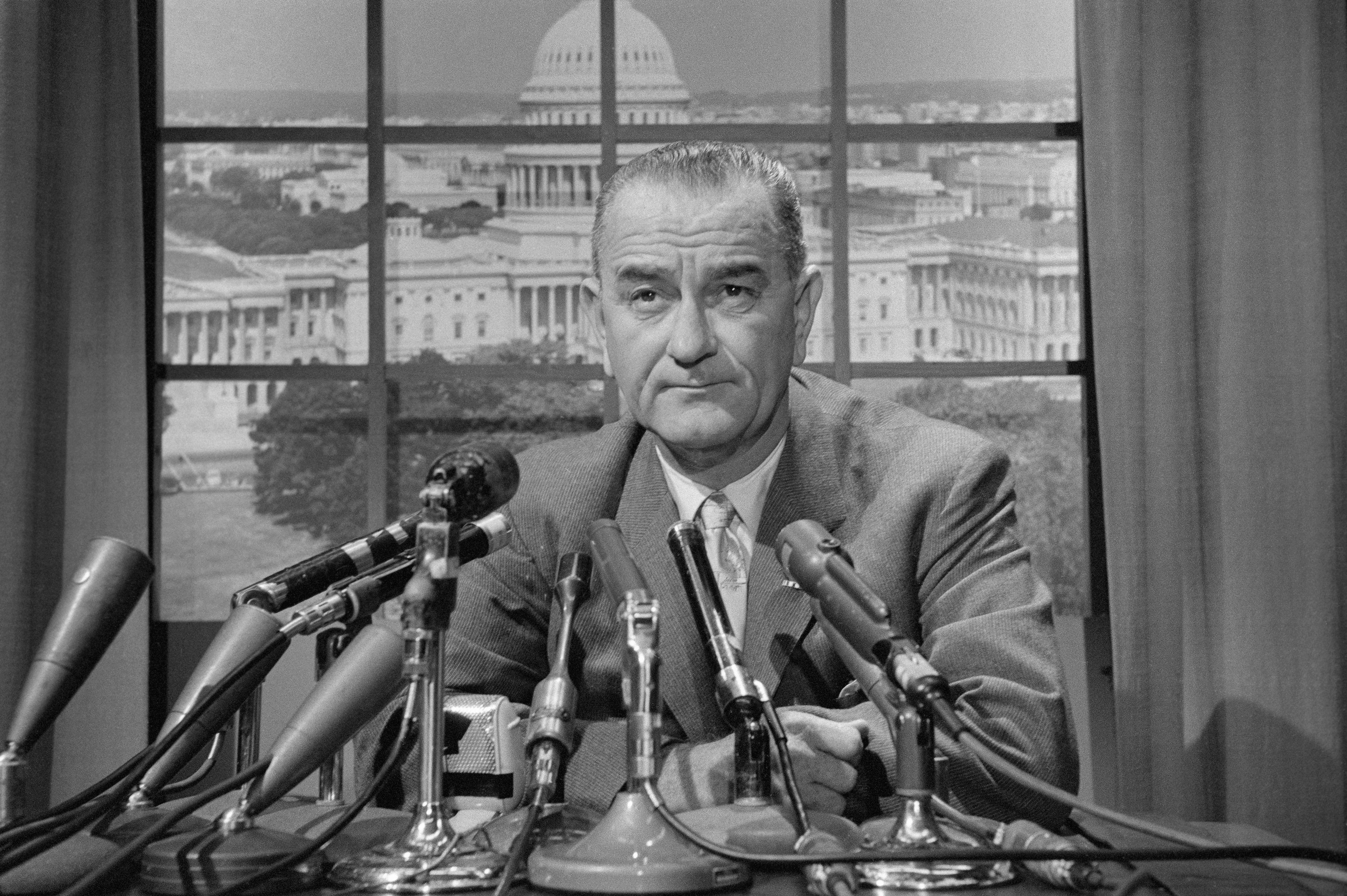 Lyndon B. Johnson at Press Conference