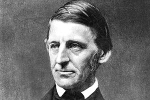 Ameriican poet and essayist Ralph Waldo Emerson was the central figure of the literary movement known as New England Transcendentalism