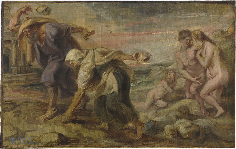 Deucalion and Pyrrha, Ca 1636. Found in the Collection of the Museo Del Prado, Madrid.