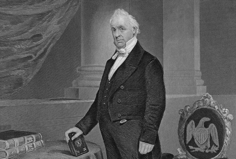 Engraved portrait of President James Buchanan