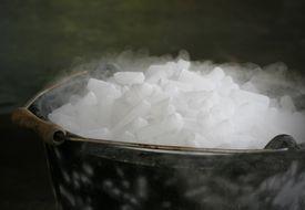 Dry Ice in Bucket