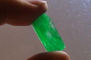 This single crystal of ammonium phosphate grew overnight.