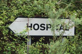 Hospital sign in Spain.