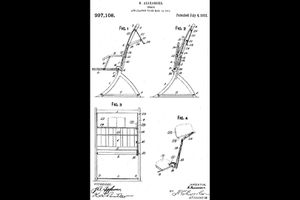 Drawing for patent #997,108 issued on 7/4/1911