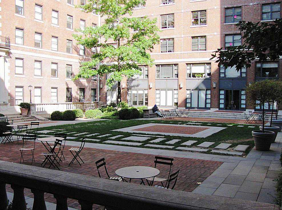 The Courtyard in the Barnard College Quad