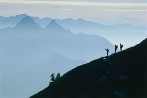 Hikers in the Bavarian Alps