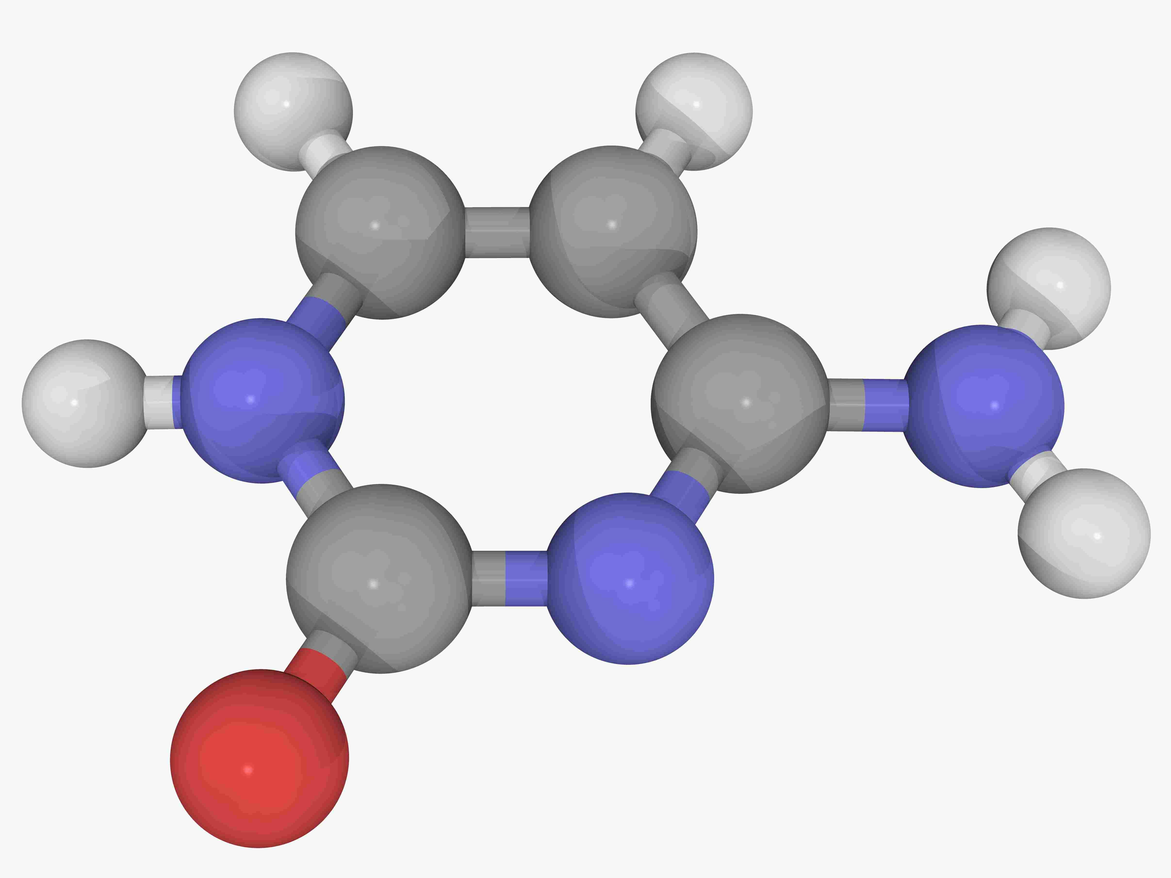 Cytosine pyrimidine nitrogen base molecule