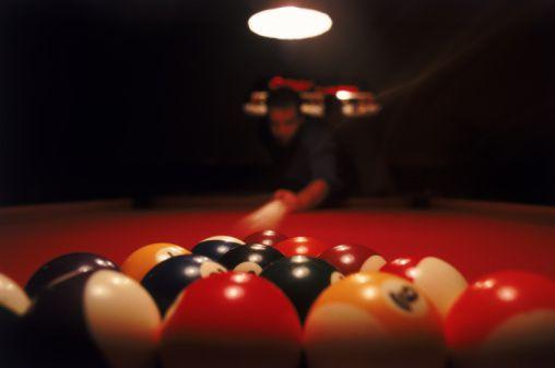 shooting pool, jabberwocky, poke stroke, poked stroke