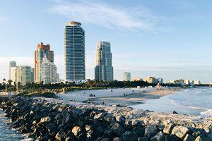 South Beach Miami skyline, Florida, USA