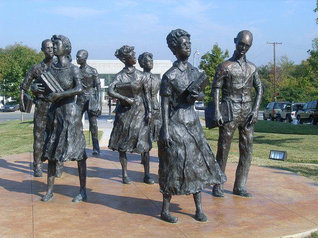 Sculpture of the Little Rock Nine