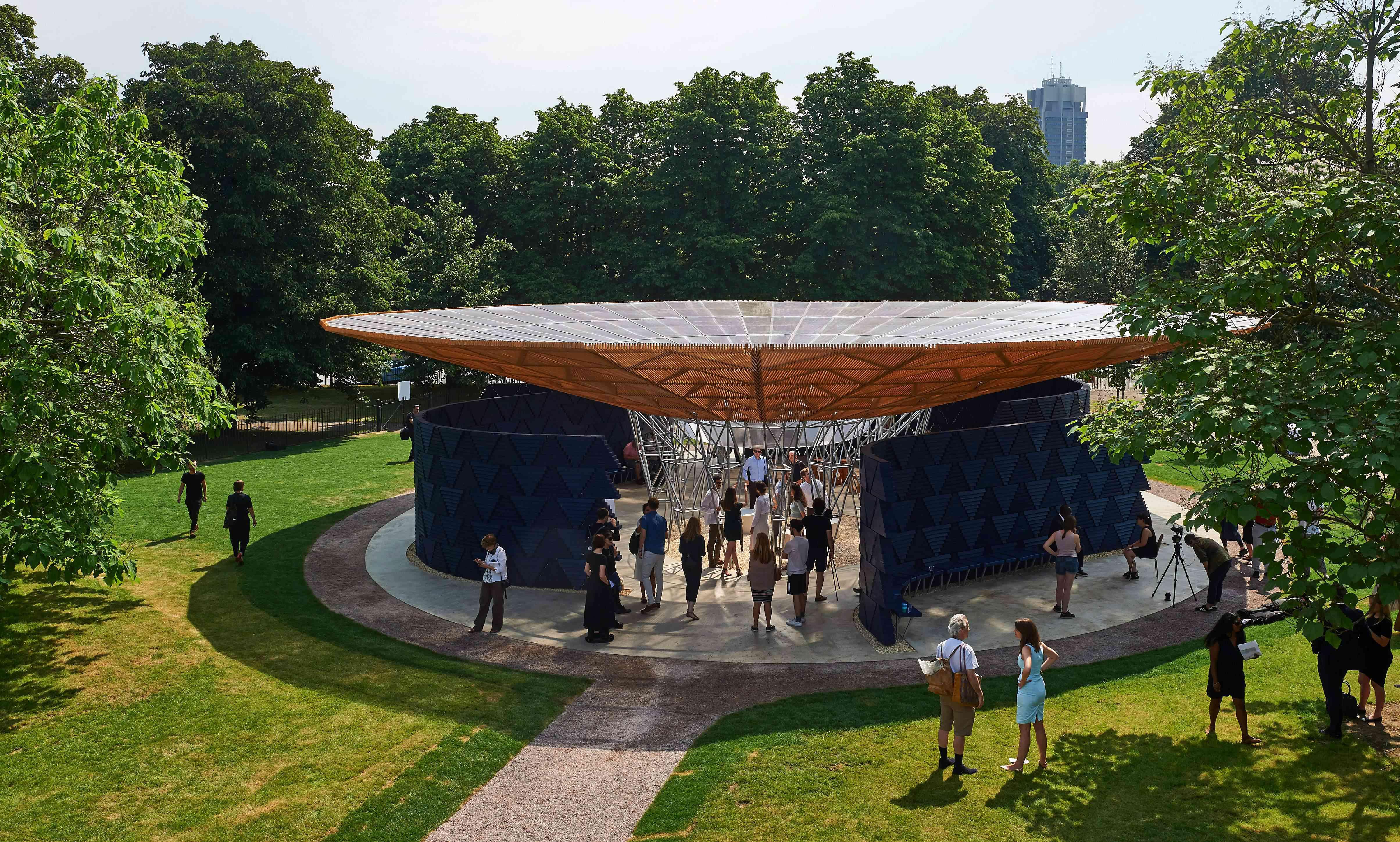 Serpentine Gallery Pavilion, by Burkinabe architect Diebedo Francis Kere