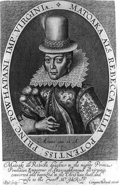 Engraving of Pocahontas