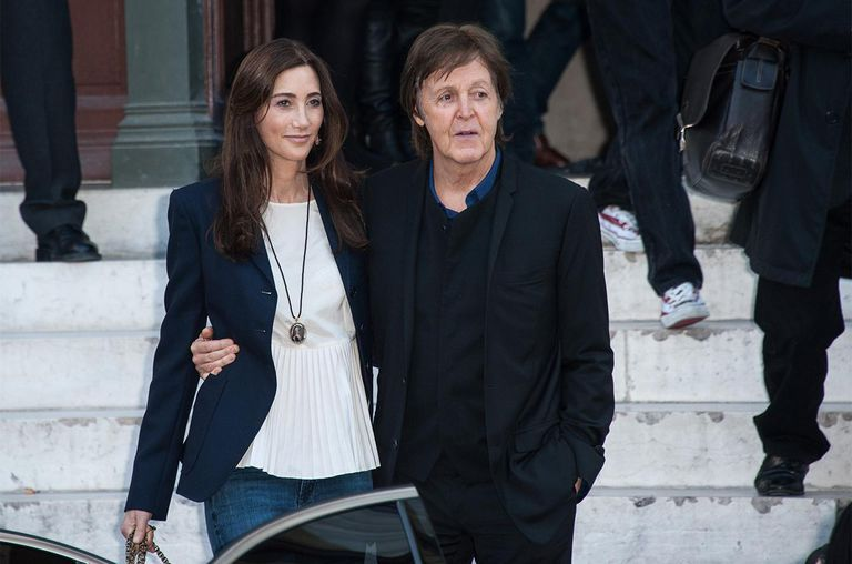Sir Paul McCartney R And Nancy Shevell Arrive At The Stella Spring