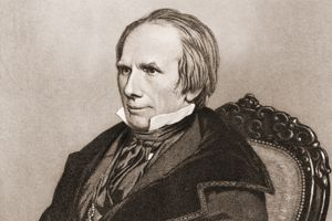 Engraved portrait of politician Henry Clay