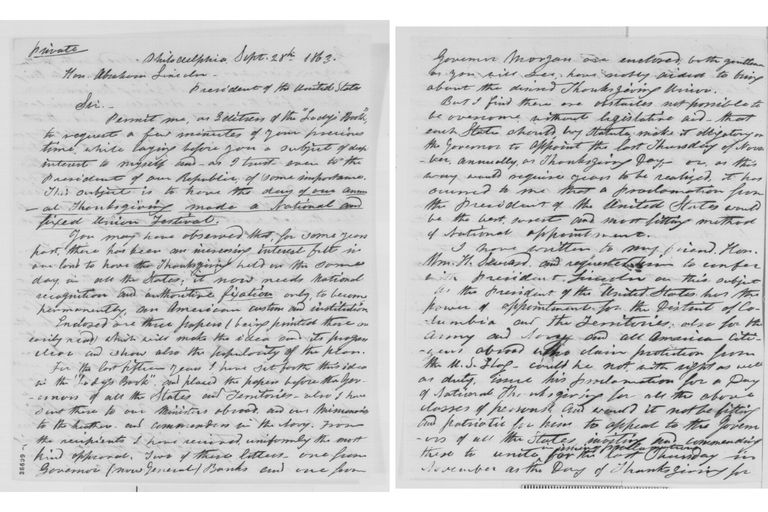 Sarah J. Hale to Abraham Lincoln, Monday, September 28, 1863
