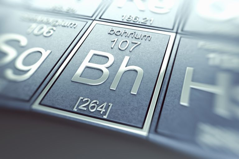 Bohrium is a radioactive metallic transition element.