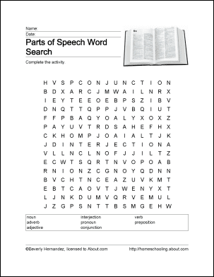 Parts of speech word search crossword puzzle and more ibookread ePUb