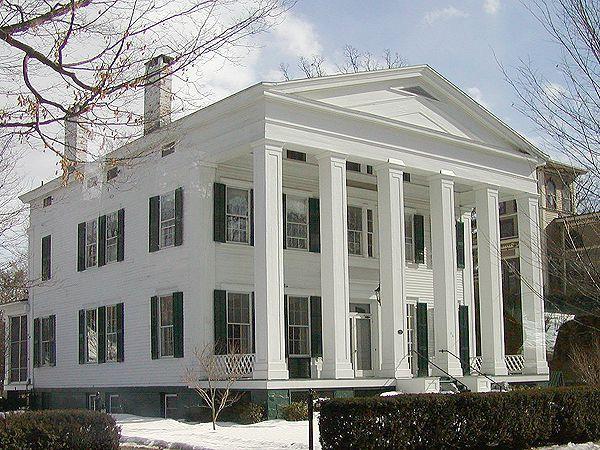 maison néo-grec à Saratoga, New York