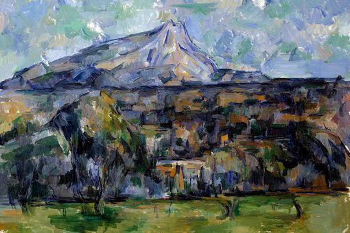 The Mont Sainte-Victoire by Paul Cezanne
