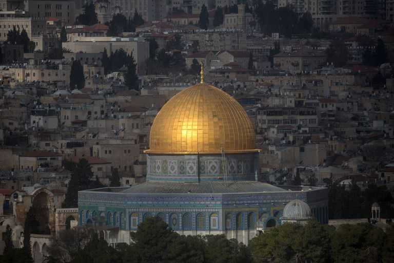 golden dome atop an 8-sided structure