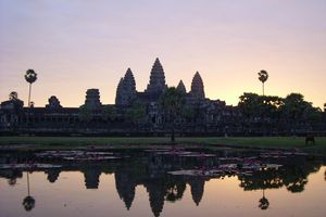 A new day dawns over Angkor Wat, Cambodia