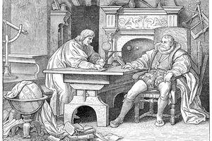 Johannes Kepler with King Rudolf II