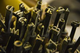 Antique metal typeface