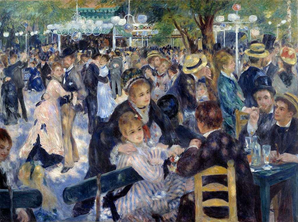 Dance at 'Le Moulin de la Galette' - by Auguste Renoir