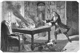 Isaac Newton in 1874