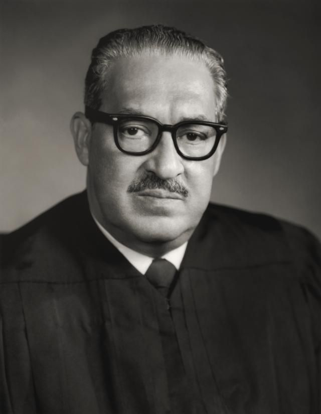 Portrait of American jurist and Supreme Court Justice Thurgood Marshall. (circa 1960)